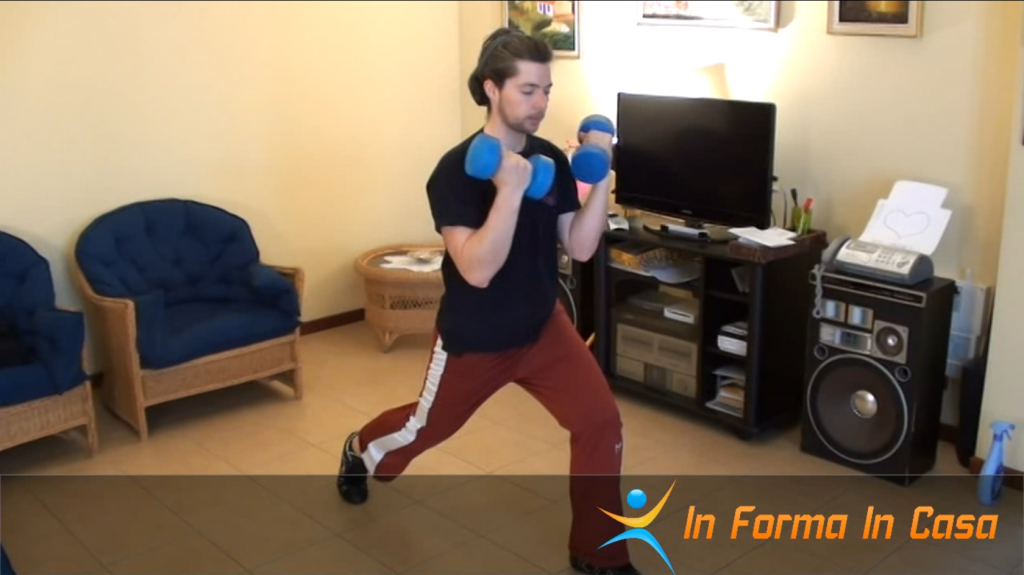 allenamento a casa per gambe e core
