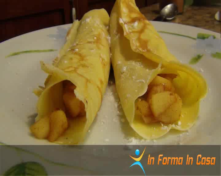 Crepes mele e cannella