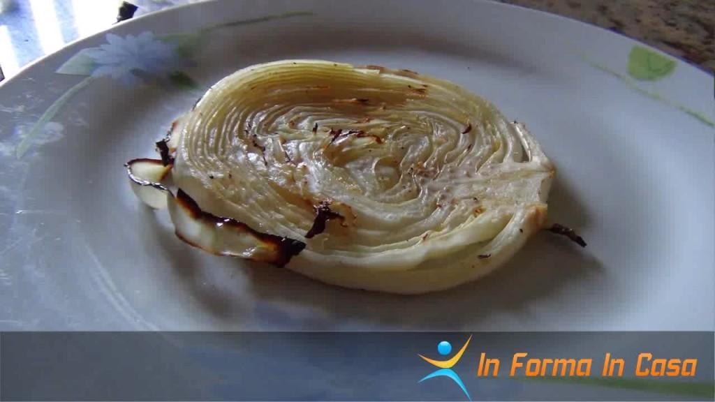 cavolo cappuccio croccante all'aglio