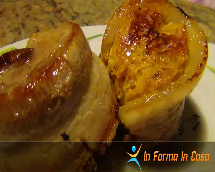 Muffin di zucca e pancetta