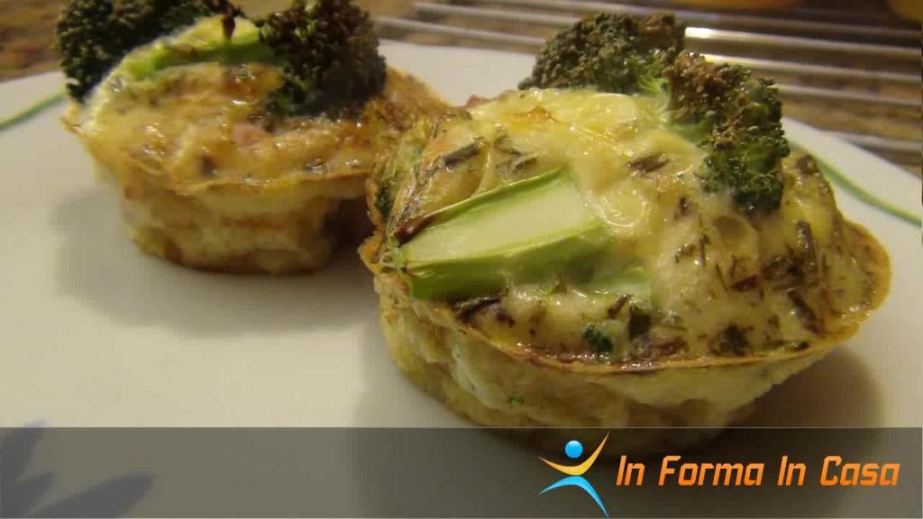 Muffin prosciutto e broccoli